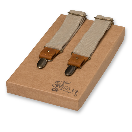 Wiseguy Suspenders - The Duck Beige (1)